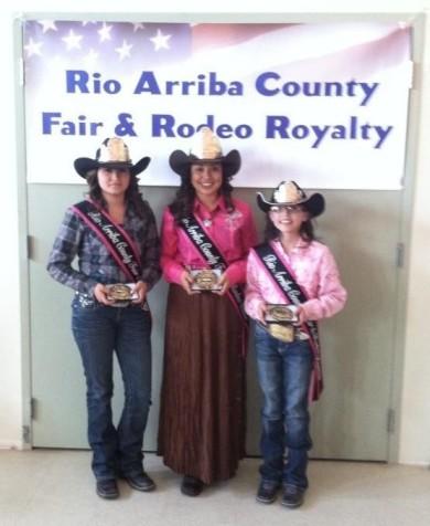 Tiffany Archuleta (Princess), Samantha Terrazas (Queen) and Lindsey Martinez (Jr Princess)